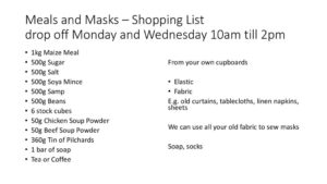 thumbnail of Meals and Masks – Shopping List