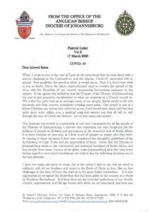 thumbnail of Pastoral Letter Vol 2 – COVID-19