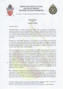 thumbnail of Pastoral Letter Vol 6 Pentecost May 2020