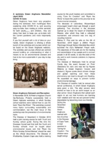 thumbnail of A summary Green Anglicans Newsletter (April 2020)