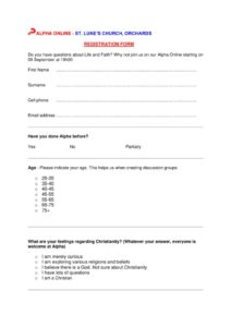 thumbnail of Online Alpha Registration Form