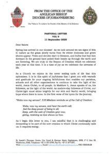 thumbnail of Pastoral Letter Vol 9 11 September 2020