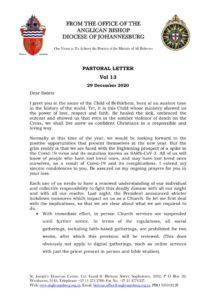 thumbnail of Pastoral Letter Vol 13 29 December 2020